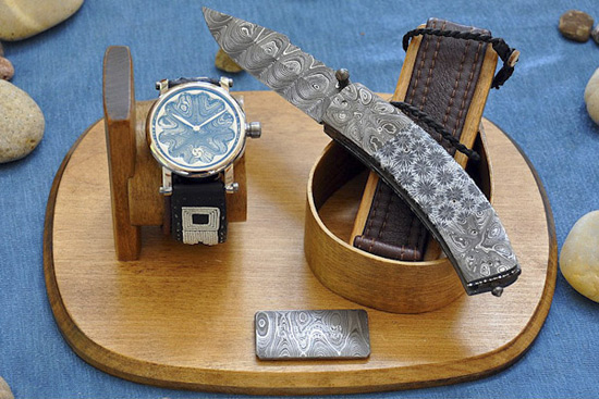 Norse Gods Bless GoS LE Watch and Knife Set in Damascus Steel