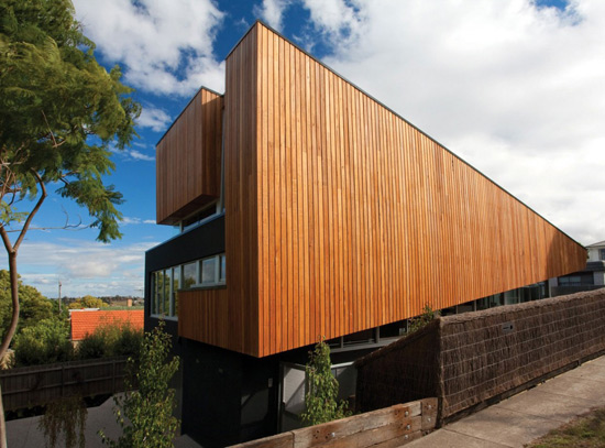 Remodeled Melbourne Home Warms Up In Wood Paneling Soft