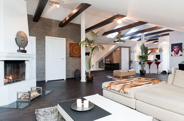More Inspiration from Stockholm – 200 Sq M Penthouse