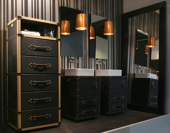Luggage Bathroom Furniture for Contemporary and Vintage Interior House  Design