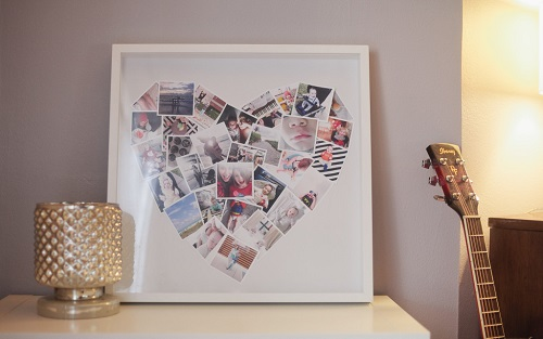 picture collage shaped like a heart