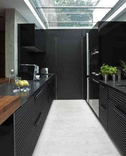 small kitchen design skylight