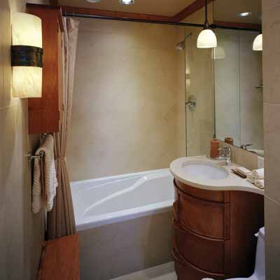 13 small bathroom modern interior design ideas for Small bath ideas