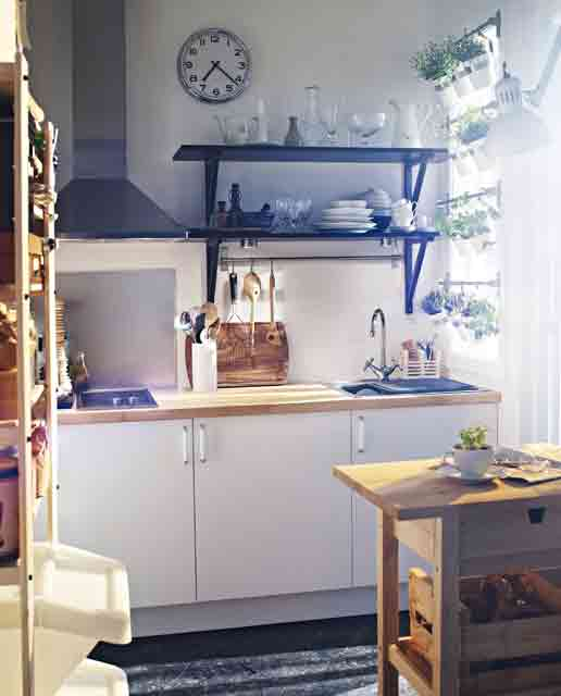small kitchen design indoor-garden