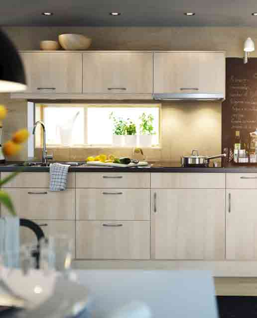 A Window Frame Small Kitchen Design