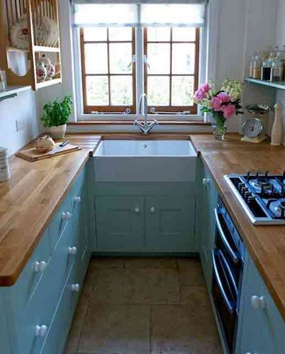 small kitchen design no-curtains