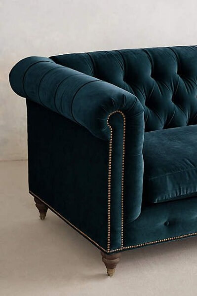 Velvet Lyre Chesterfield Sofa large living room ideas