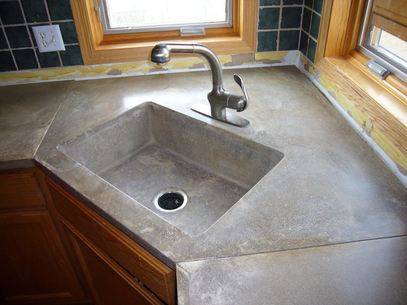 concrete kitchen countertop ideas