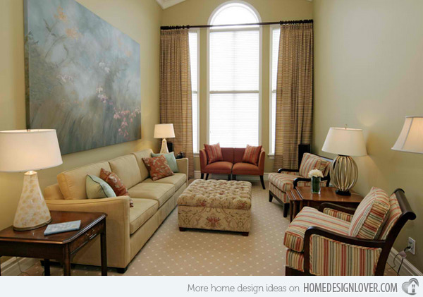 small living room design ideas enveloping color