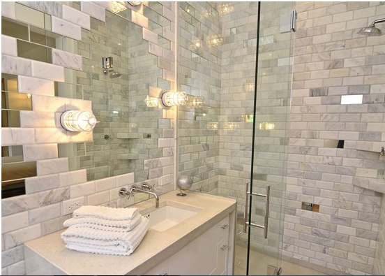 large bathroom mirrors tile mirror