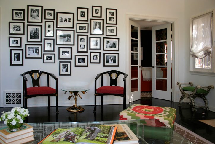 wall decor ideas black frames