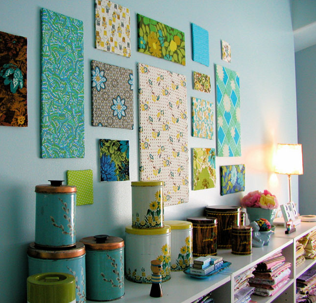 wall decor ideas fabric panel