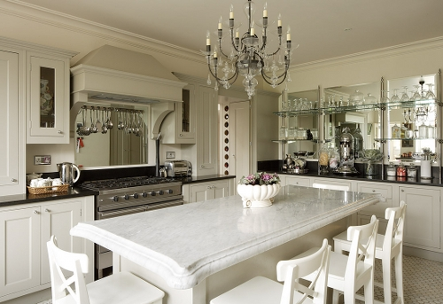 large kitchen designs white marble large kitchens