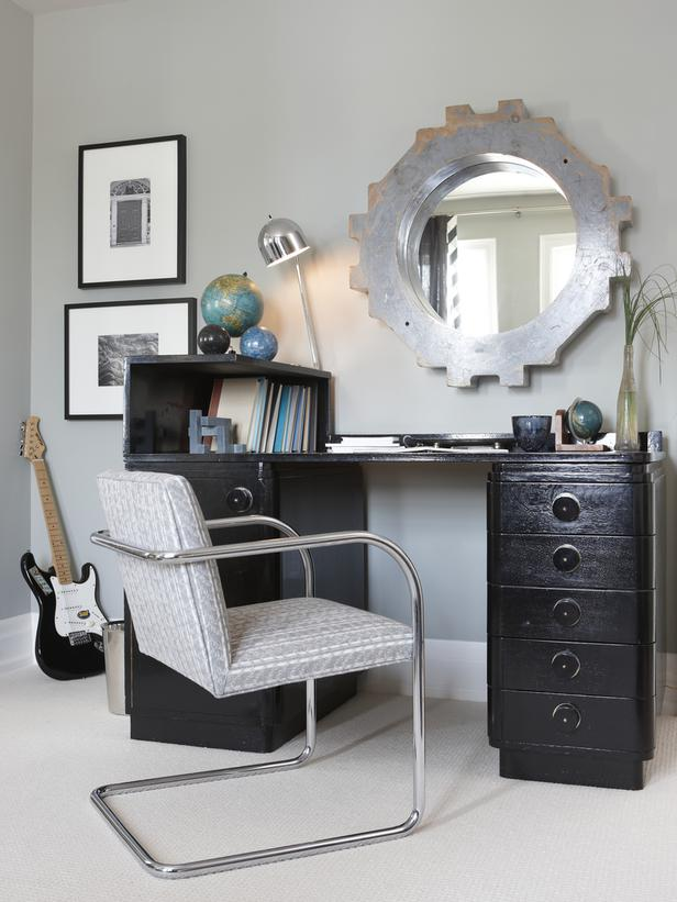 home office design rock post industrial