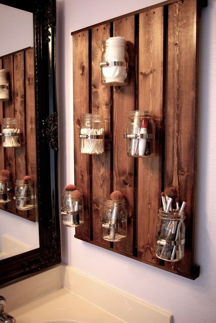 jars for little things small bathroom ideas