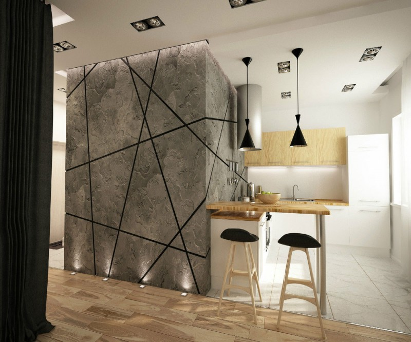 young couples apartment open-kitchen-art-ugol