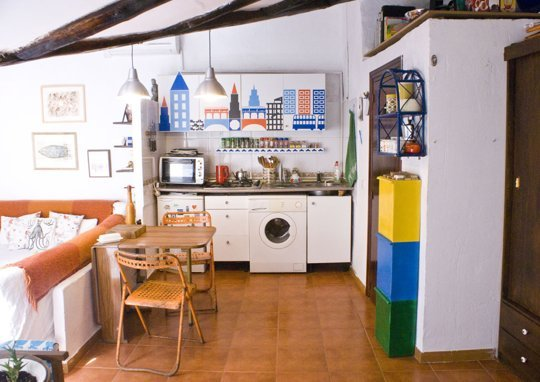 young couples apartment small-kitchen-madrid