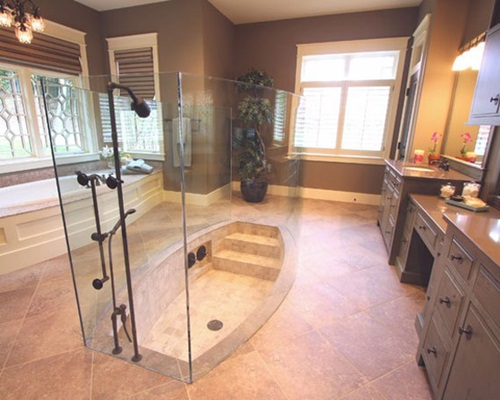 walk in showers glass tub