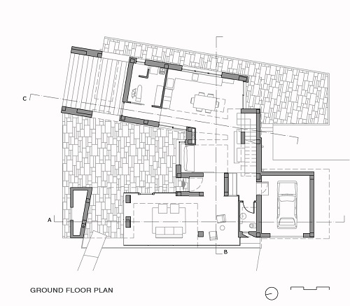 ground floor plan Villa Di Gioia