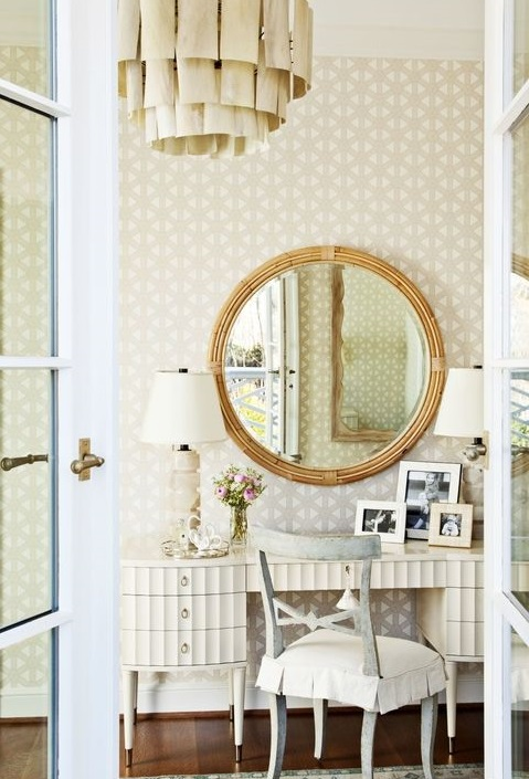 vintage and romantic looking home office