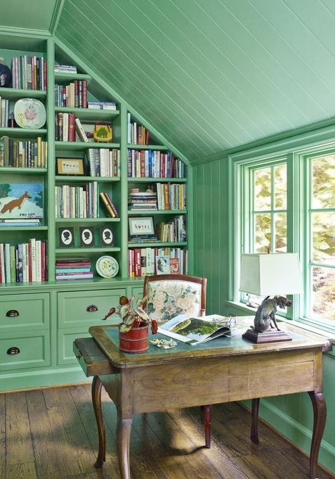 home office resembling a garden shed