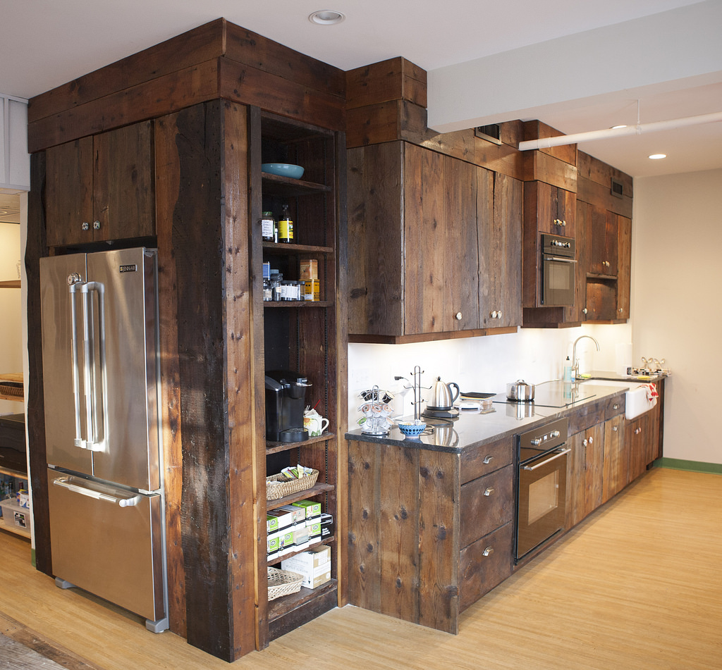 recycled barn wood cabinets